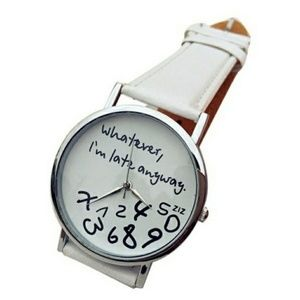 Reckless Resale Accessories - Procrastinators Analogue Statement Watch